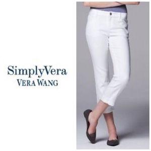 Women's Simply Vera Vera Wang Capri Jeans Sz 24W
